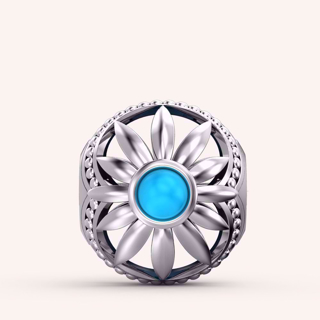 Blue Daisy Flower Charm - Color