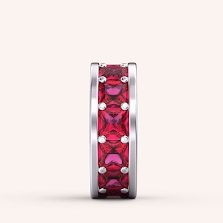 Ruby Red Spacer Charm - Color