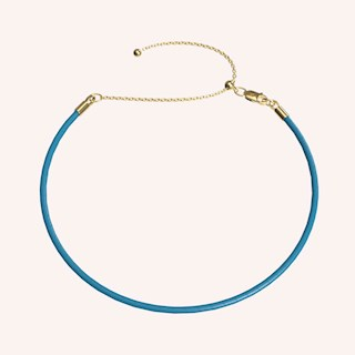 Leather Choker Neckchain - Neckchains