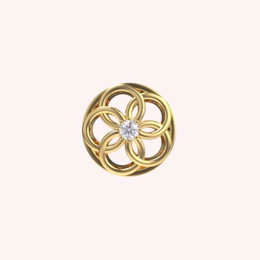 Shimmering Flower Bead Charm - Bead Charms