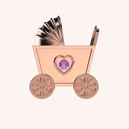Little Buggy Stroller Charm - Wishes