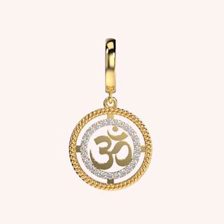 Radiating OM Charm - Hanging Charms