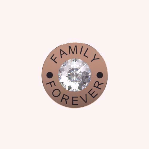 Family Forever Charm - Rose Gold Charms