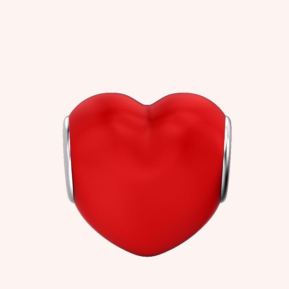 Glossy Heart Charm