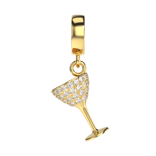 The Cocktail Glass Charm